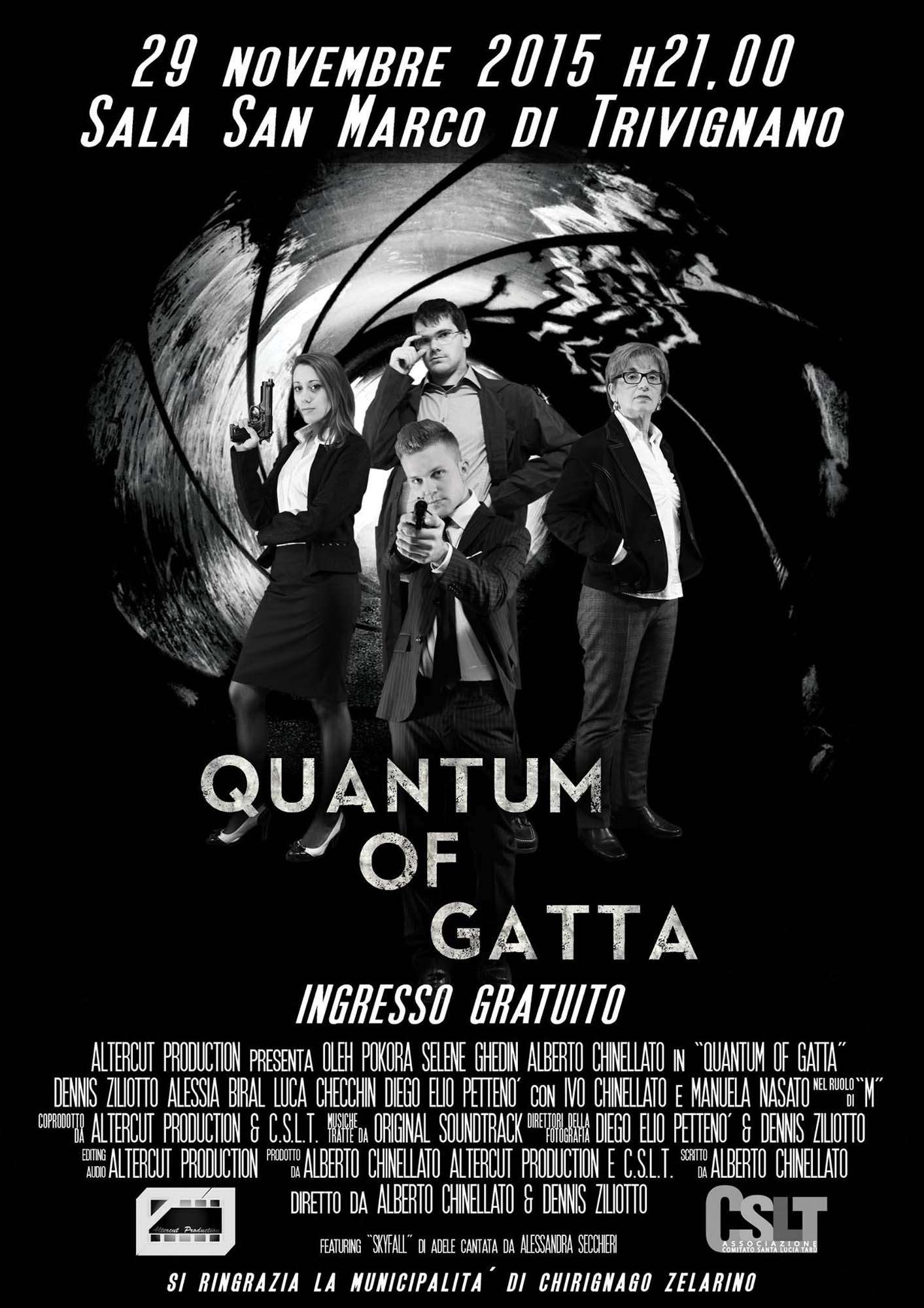 Locandina Quantum of Gatta 007 James Bond Altercut action movie fan movie Venezia