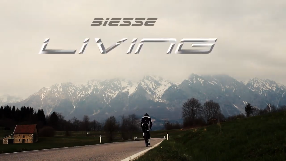 Biesse Living Cycling ciclismo video sport riprese video esterne Lago Santa Croce Biesse Cicli